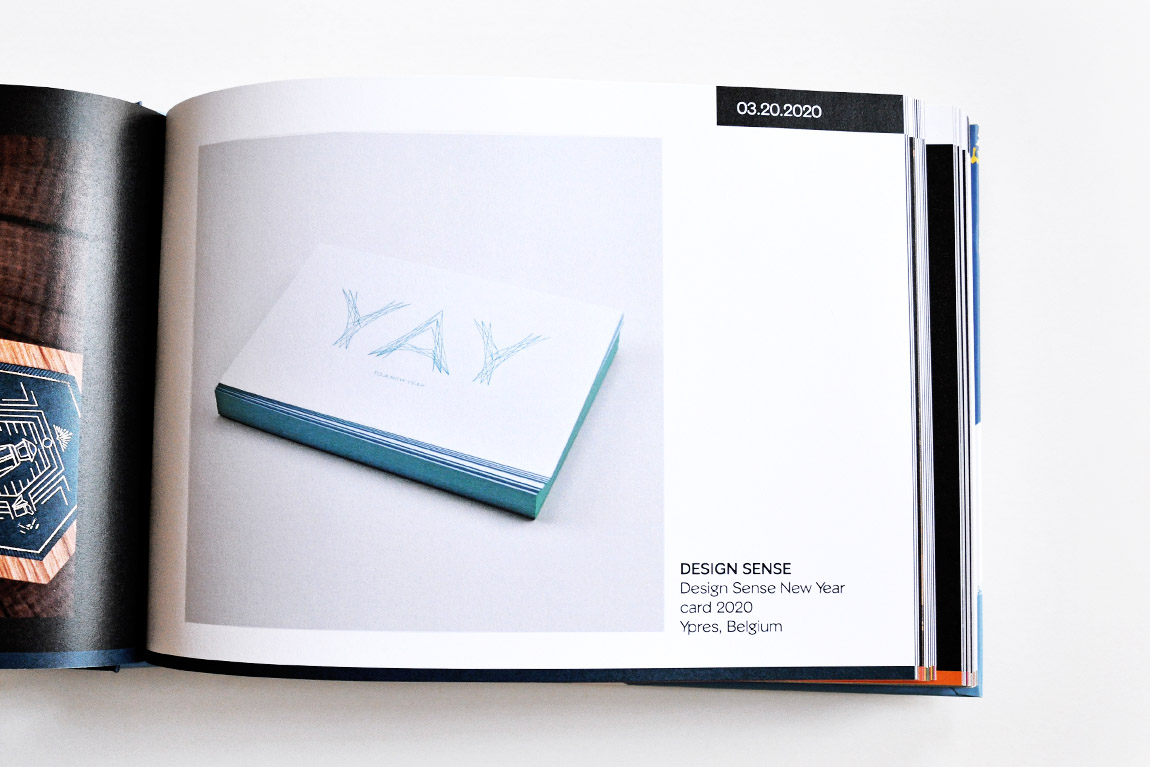 Design Sense nieuwjaarskaart 2020 in 'Favourite Design Book of the Year 2020'
