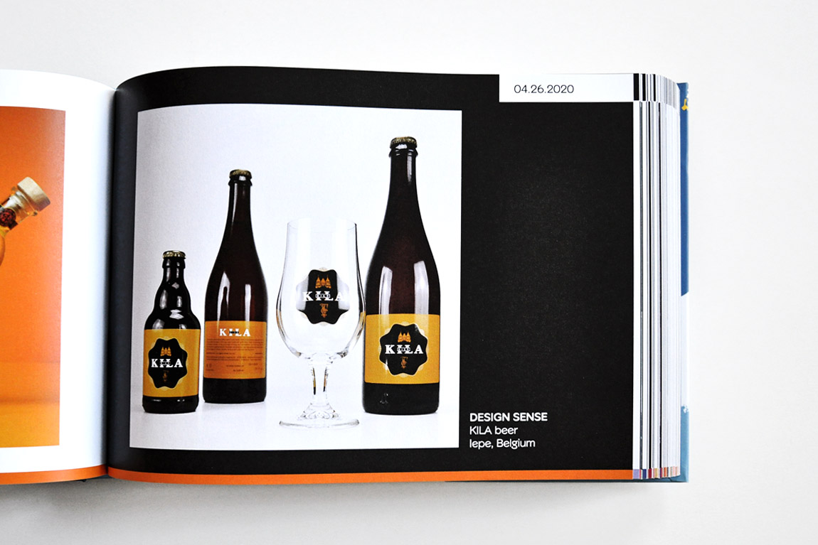 Door Design Sense vormgegeven KILA-bieretiketten in 'Favourite Design Book of the Year 2020'