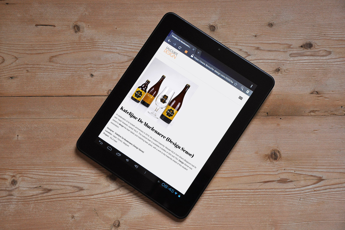 KILA-bier op website 'Favourite Design'